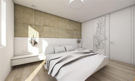 drei zimmer wohnung mit einer betonwand bratislava - Bett Hinterwand