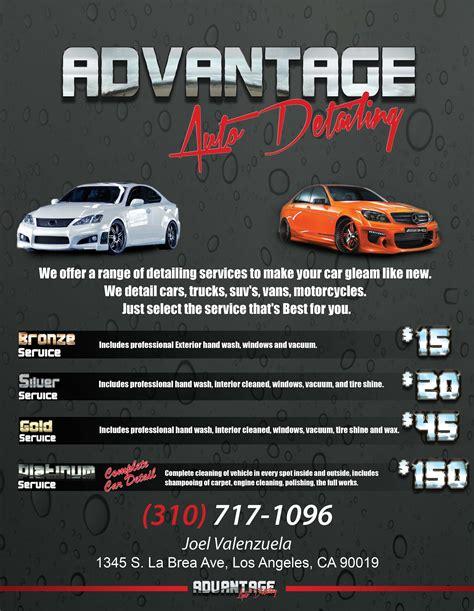 auto detailing flyer template advantage auto detailing andre mccord