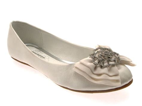 flat satin wedding shoes womens low heel flat satin ballet pumps bow bridal prom