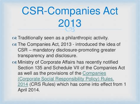 section 135 csr corporate social responsibility