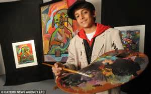 painting 10 year olds picasso hamad al humaidhan ten paints like a