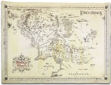 lotr map lord of the rings trilogy posters