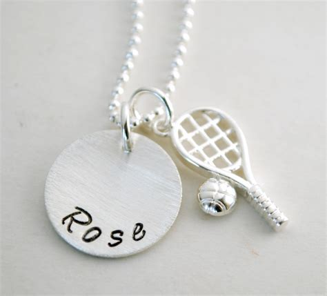 Handmade Personalised Jewellery - tennis necklace with personalized name custom tennis jewelry