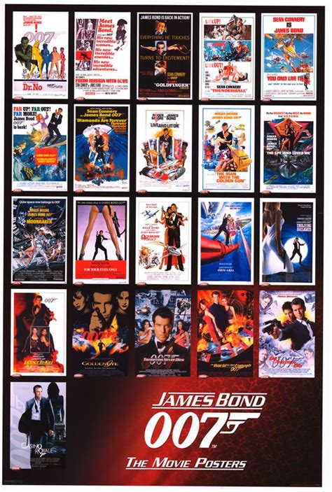 james bond all film list james bond movies chronological order pictures to pin on