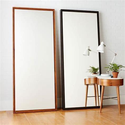 floating wood floor mirror west elm horizontal at