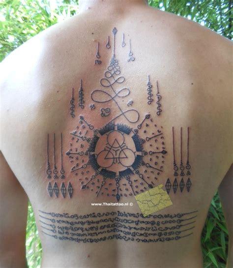 traditional thai tattoo thai sak yant nederland sak yant and yantra