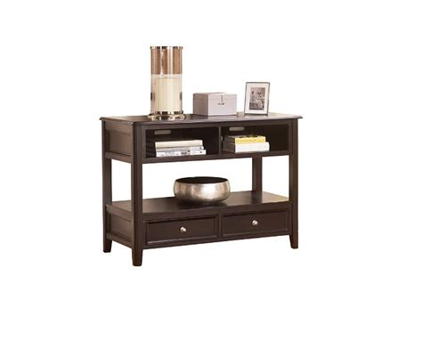 sofa table ashley furniture ashley furniture carlyle storage sofa console table the