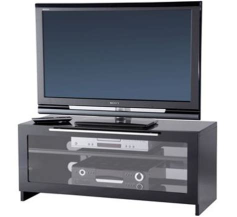 Tv Stand With Glass Doors by Tv Stand With Fold Glass Door For Tvs Upto 50 Inches