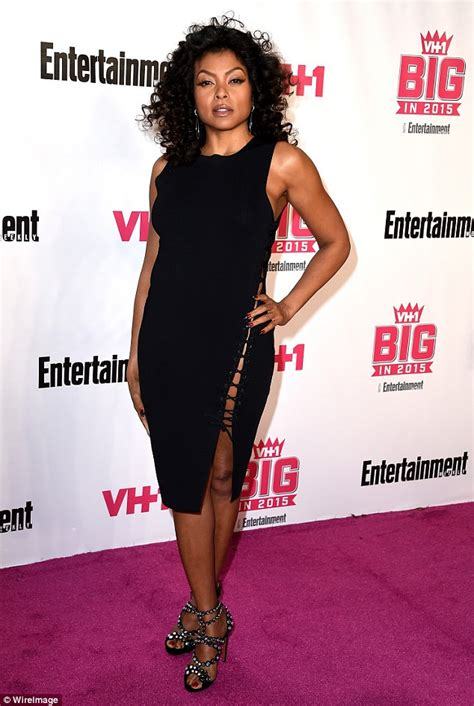 taraji p henson black dress cut out usa empire s taraji p henson sizzles in black dress at