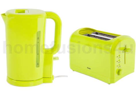 Lime Green Kettle And Toaster lime green abode electric cordless 1 7l kettle 2 slice