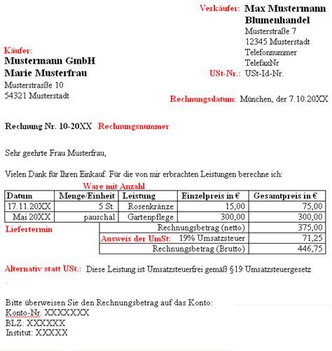 Musterrechnung Handwerk Hinweis Zur Rechnung Kleinunternehmer Der Satz Nach 19 Ustg Besteht Keine Umsatzsteuerpflicht