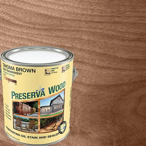 preserva wood  gal semi transparent oil based tahoma