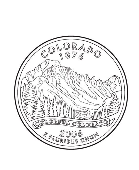 Coloring Page Quarter by Alaska State Seal Coloring Page Coloring Home