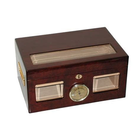 cigar humidor quality importers versailles 100 cigar glass top humidor