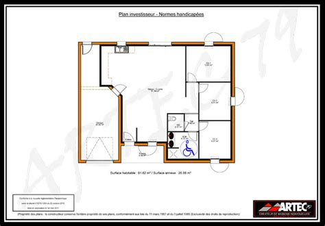 handicap home plans house plan 2017 plan maison handicap 233
