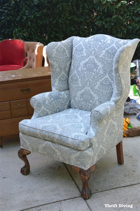 Upholstery Tutorial Chair by How To Reupholster A Wingback Chair A Step By Step