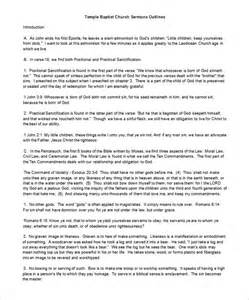 free sermon outline template sermon outline template 10 free sle exle format