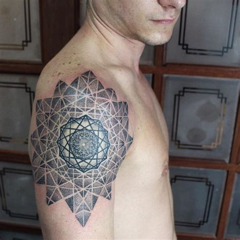 complex tattoos complex geometry on shoulder best ideas