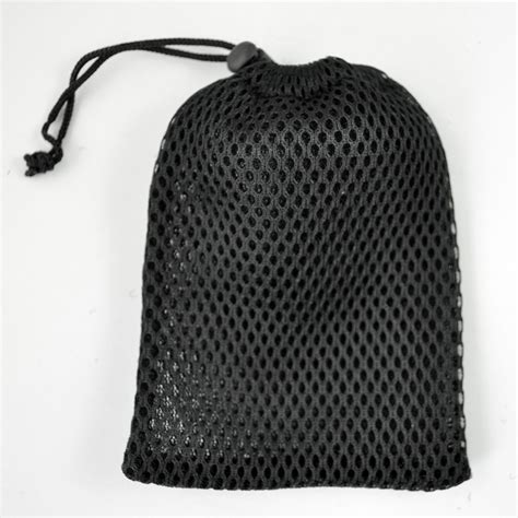 Pouch Bag 3 cell phone mesh drawstring pouch bags 3pcs black dt