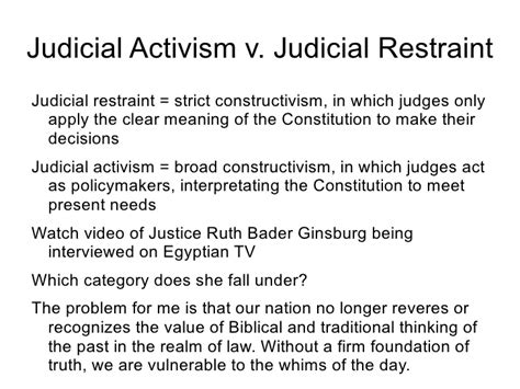 exle of judicial restraint week 10 1 the judicial branch