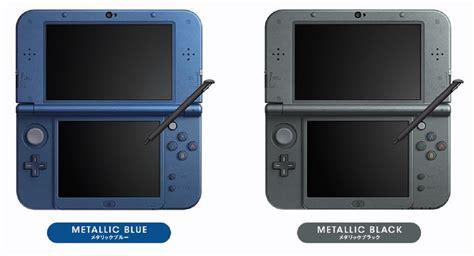 new 3ds xl colors new 3ds xl 2015 nintendo system colors metallic blue black