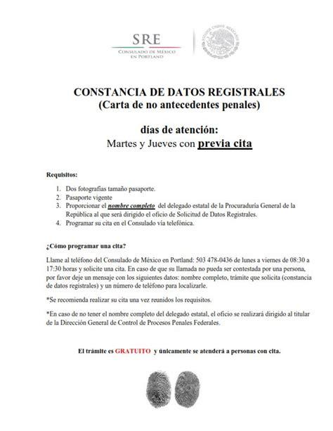solicitud de carta de antecedentes no penales en el d f carta de antecedenres no penales cdmx constancia