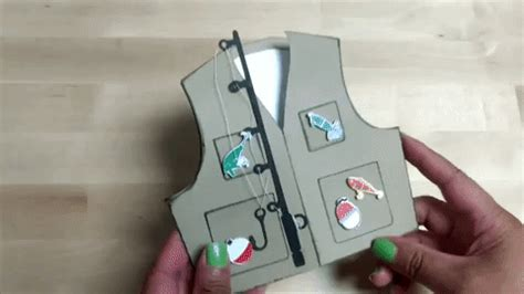 fishing vest card template fishing vest card template paper chaser to