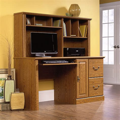 sauder orchard computer desk with hutch carolina oak sauder orchard computer desk with hutch carolina
