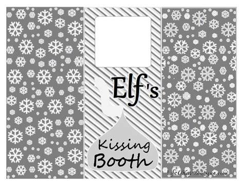 printable elf on the shelf kissing booth template pin by pam huxford on elf on the shelf pinterest