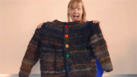 Backtothe Sweater sweater made with 100 human hair takes back the phrase that s so trending cbc news