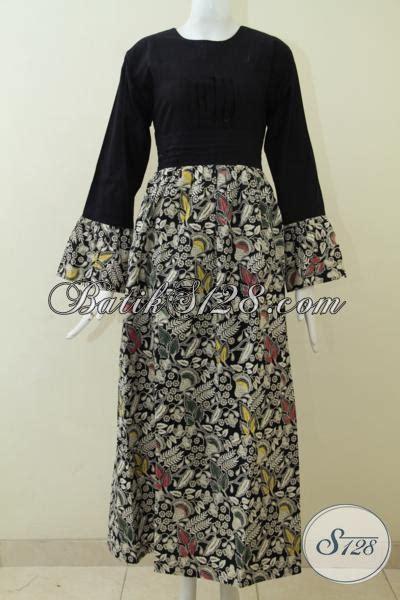 Gamis Pria Jubba Alebas Kombinasi busana batik gamis kombinasi tulis dengan atasan hitam