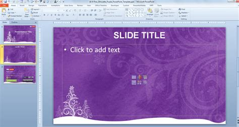 slide themes powerpoint 2007 free download free purple christmas powerpoint template free