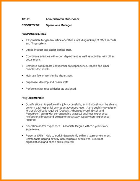 Administrative Assistant Duties Resume Sle Receptionist Administrative Assistant Office Duties 28 Images 8 Receptionist Description