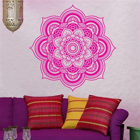 hindu home decor wall decal vinyl sticker decor mandala menhdi om