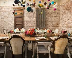 Baby Shower Chandelier Decor Colorful Pompons Table And Wall Decor For Baby Shower