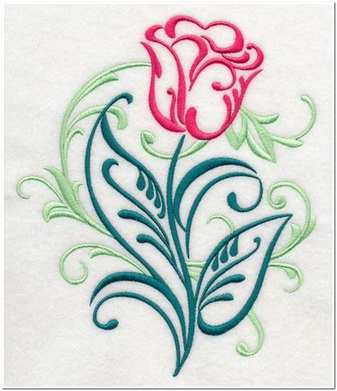 Bordir Bunga Tulip 10 contoh motif bordir bunga tulip cantik untuk punching