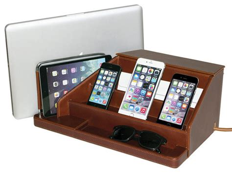 home charging station leather charging station traditional charging stations by great useful stuff