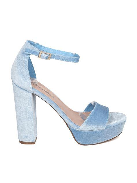 ankle block heel sandal shoes breckelles hk95 velvet open toe ankle