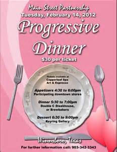 progressive dinner invitations ideas just b cause