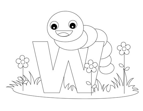 Alphabet Coloring Pages W | free printable alphabet coloring pages for kids best