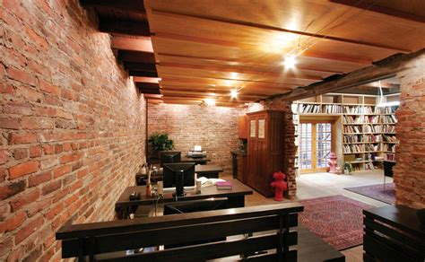 interiors with and brick work designing