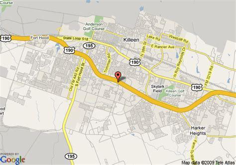 map killeen texas map of inn killeen fort killeen