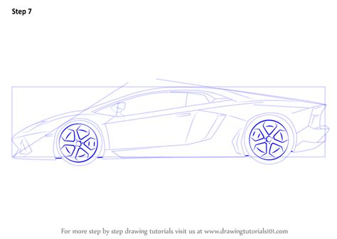lamborghini sketch side view step drawing tutorial on how to draw lamborghini