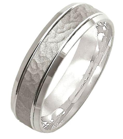 m308096pp platinum hammered wedding band