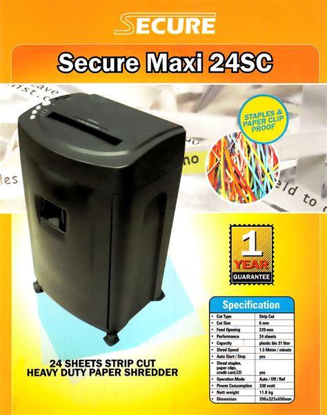 Murah Mesin Penghancur Kertas Secure Maxi 24 Sc Asuransi Jual Paper Shredder Secure Maxi 24sc Atk00300315015 Untuk