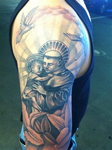 saint tattoo designs st anthony tattoos
