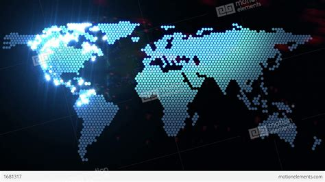 digital world digital world map stock animation 1681317