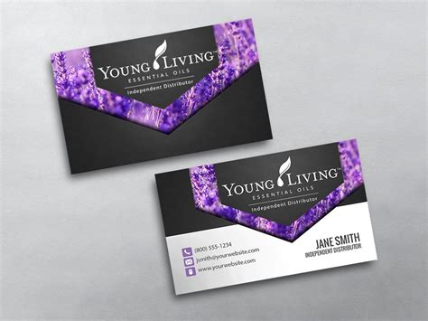 Young Living Business Cards Free Shipping Living Business Card Template