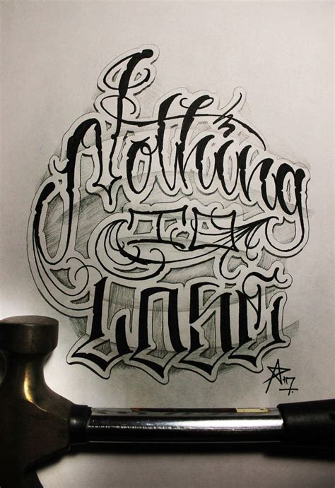 tattoo letter fonts best 25 chicano lettering ideas on