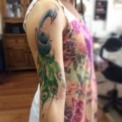 watercolor peacock tattoo 25 best ideas about watercolor peacock on